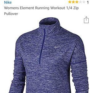 Woman's Element Running Workout 1/4 Zip Pullover